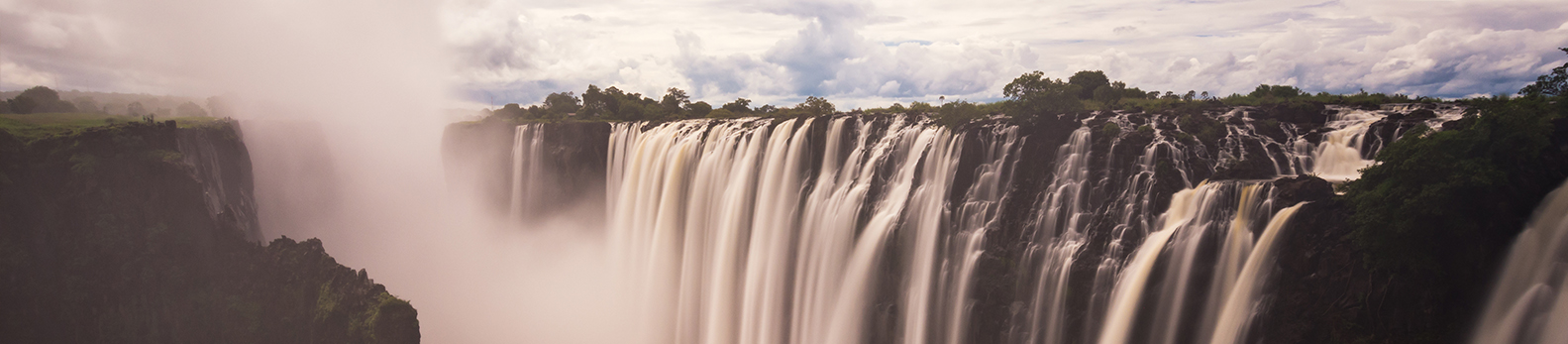Victoria Falls, Zimbabwe is not only thrilling and mind blowing but offer amazing views of the Zambezi River.